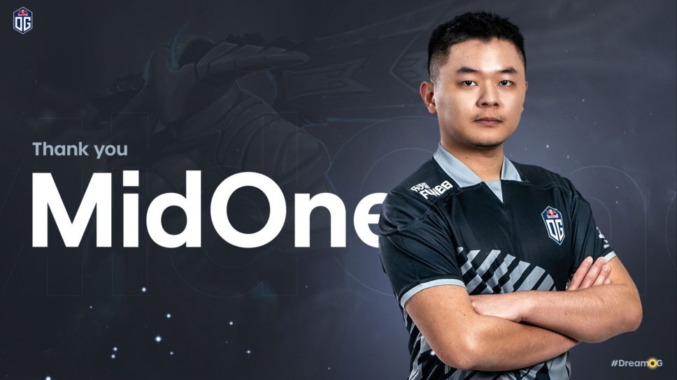 OG release MidOne after failure to qualify for Dota 2 Major