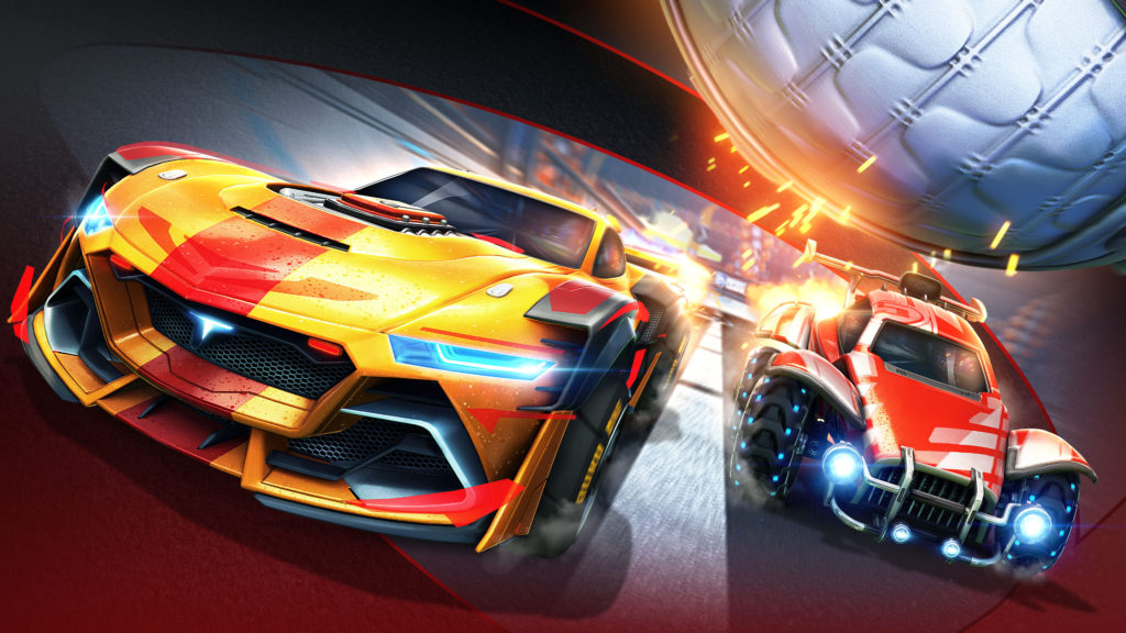 Rocket League will feature cars from NASCAR and F1. Image Credit: Psyonix/ Rocket League.