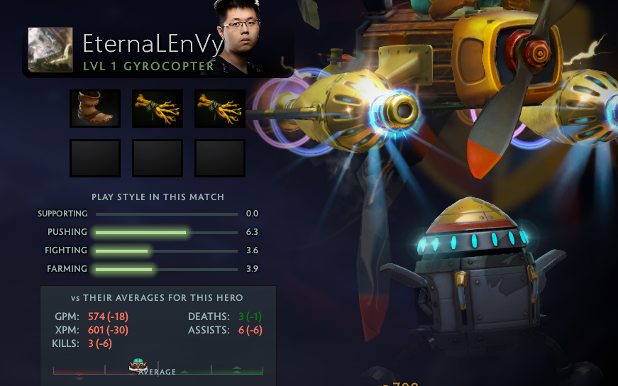 EternalEnvy's anticipated return to DPC. No regen Gyro, classic EE