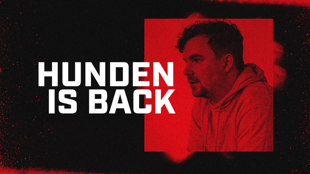 An image of Hunden with the text: Hunden is Back.
