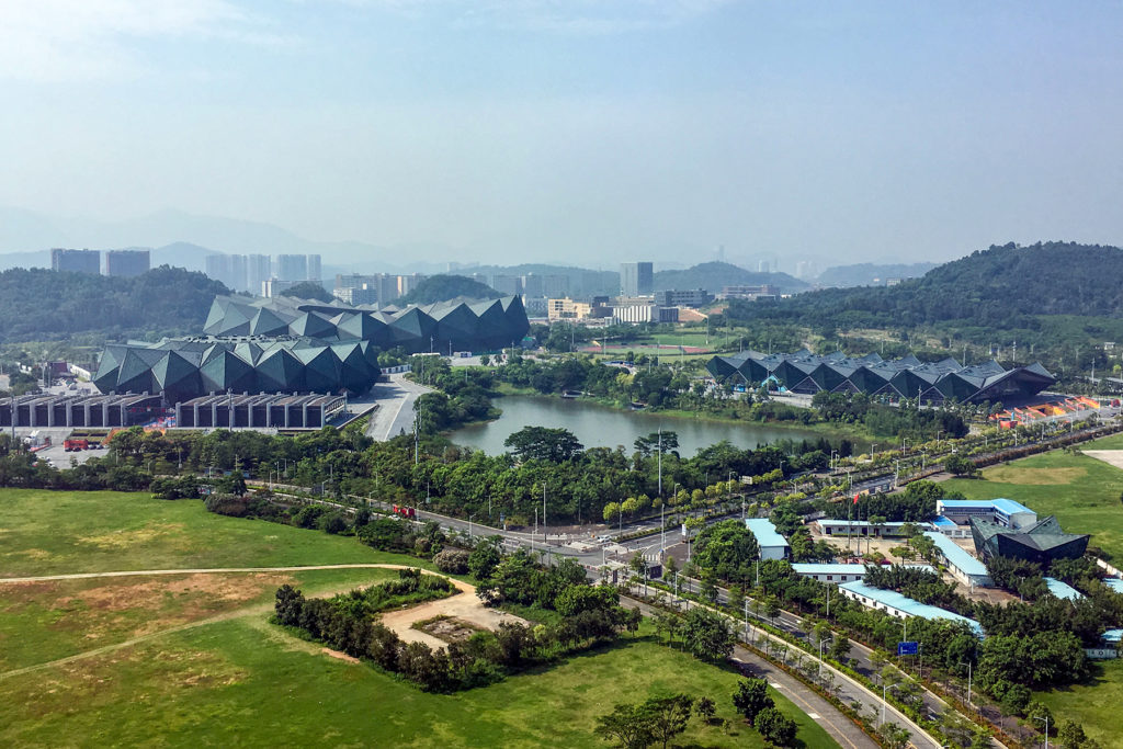 A top view of the Shenzhen Universiade Sports Center (2017)
