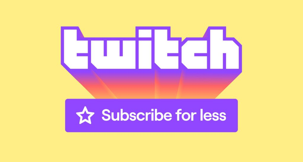 An image of Twitch's new subscription pricing logo.