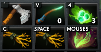 Phantom Assassin's Starting Items: Quelling Blade, Magic Stick, 1 Set of Tangos, 2 Branches and a Faerie Fire.