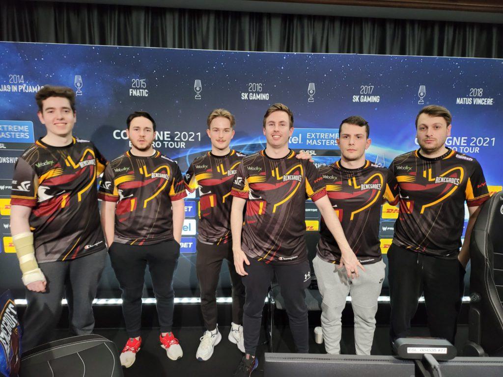 The Renegades CSGO team at IEM Cologne 2021.
