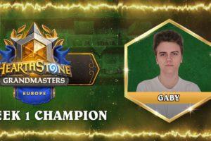 15-Year-Old Gaby wins EU Hearthstone Grandmasters Week 1