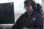 No keyboard? No problem. Blitz hilariously outplays Asa Butterfield in a 1v1 Dota 2 match
