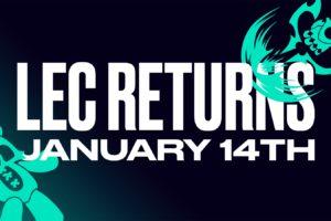 LEC 2022 Spring Split returns on January 14 but its Online